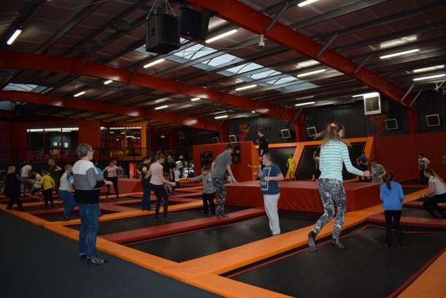 "W parku trampolin ""Hangar 646"""